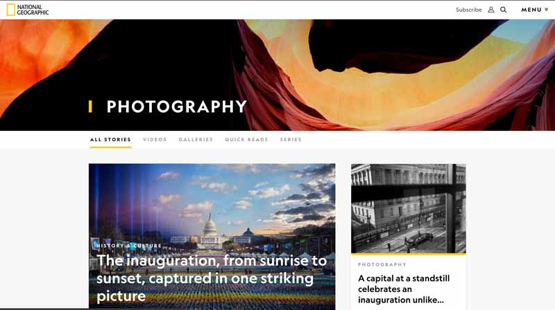 The National Geographic Online Photography Magazine