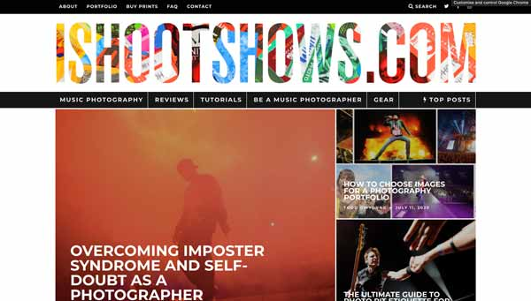 I shoot shows music photography website